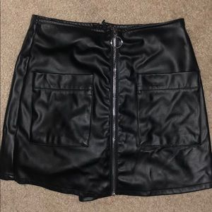 black leather skort!